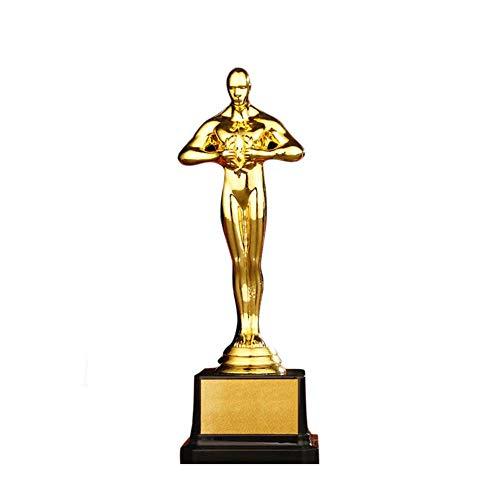 22cm metalen heren trofee heren kampioen award beker standbeeld voor bedrijfsschool atletiek sportcompetitie
