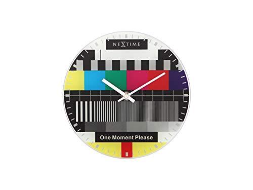 Nextime Little Test Page Reloj de Pared, Metal, Multicolor, 7,2 cm