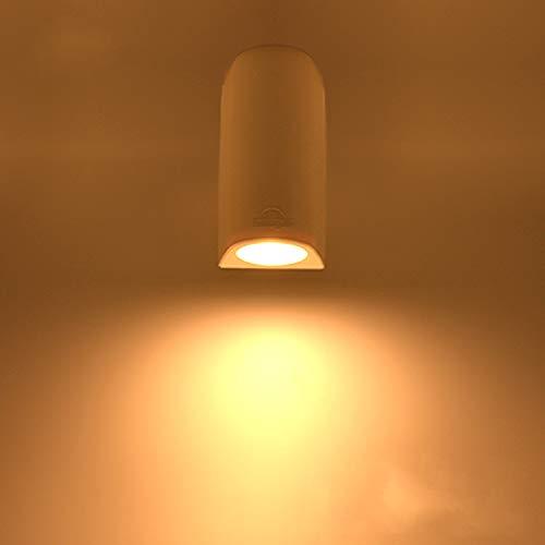 """LED Wandleuchte GU10 Außen/Innen Weiß, Innovative Wandlampe von Registrierter """"FUMATECH"""" Haltbarkeitstechnologie, Außenwandleuchte Wandspot Einschließlich Austauschbarer 3,5W Warmweiß Lampe"""
