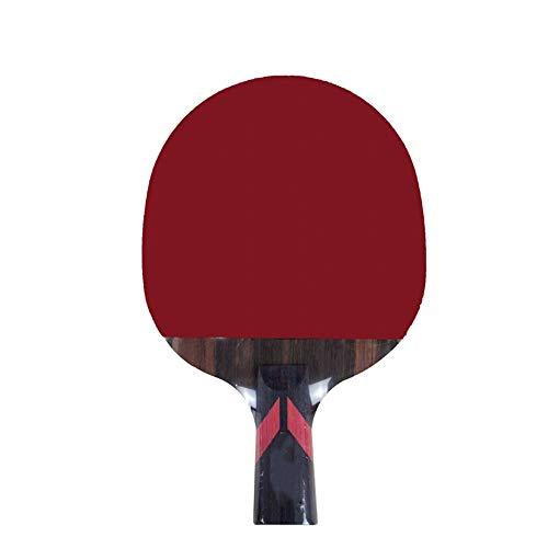 Jtoony Bate de Tenis de Mesa Individual largas y Cortas de Carbono de Madera de 6 Estrellas inversa Doble Adultos Goma de Estudiantes de Formación Mesa de Ping Pong Raqueta Pala de Ping Pong