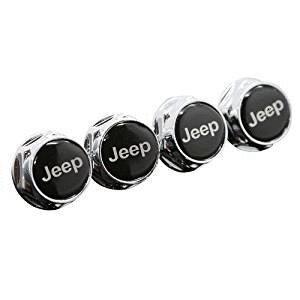 4pcs Jeep Car Model Chrome Metal License Plate Frame Bolt Screws