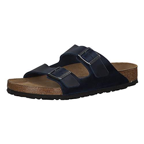 Birkenstock Unisex Arizona Soft Footbed Suede Sandals, Blue - 37 M EU / 6-6.5 B(M) US