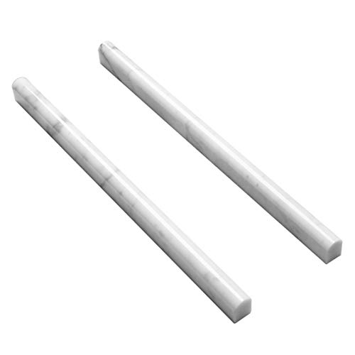 Carrara White 16 Pack 3/5'X12' Marble Pencil Liner Tile Polished