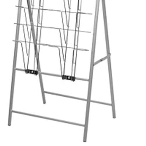Yamyannie Revistero con Soporte de Suelo Creativa for Suelo Catálogo Vertical en Bastidor A4 Datos Estante Plegable portátil Periódico de revistas Estante para Oficinas, Tiendas o Minoristas