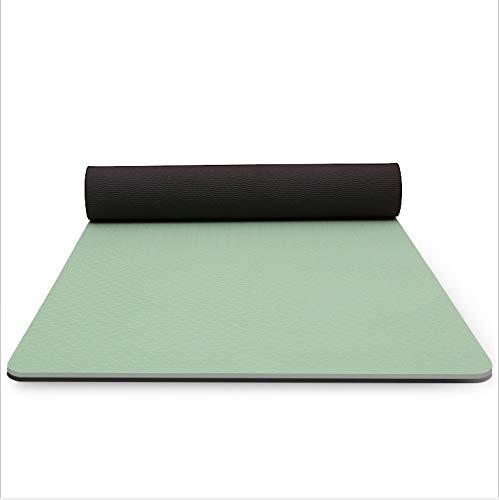 LDH Esterilla Yoga TPE Esterilla Deporte Fitness Hot Yoga Ejercicio Mat Pilates Mat |con Mochila/Pilates/Home Gym/Piso Ejercicio 183 * 66cm * 6 / 8mm (Size : 6mm)