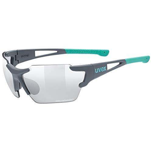 uvex Unisex– Erwachsene, sportstyle 803 race V small Sportbrille, selbsttönend, schmale Passform, grey mat/smoke, one size