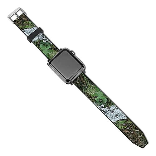 Compatible con Apple Watch Band 38 mm 40 mm, Queen Anne's Lace White Wild Flower Correa de silicona suave para reloj deportivo, compatible con iWatch Series 5 4 3 2 1