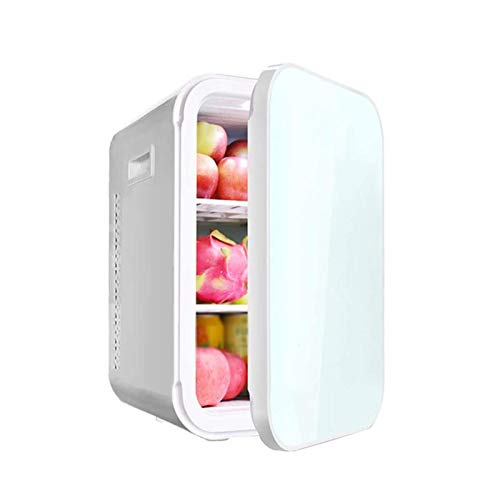 WEUROPESV Compact Refrigerators Mini Refrigerator with Cooler and Warmer for Home and Car Dual-use Refrigerators, Thermoelectric for Skin Care and Cosmetics