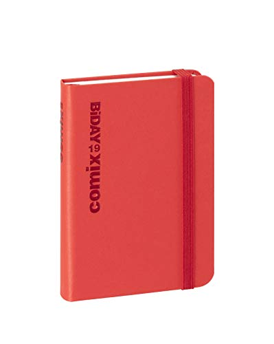 Agenda Comix 12 Mesi BiDay, formato Small 7x10 cm, Rosso