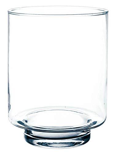 INNA-Glas Set 2 x Kerzenglas BOB, transparent, 25cm, Ø 19cm - Windlichtglas - Blumenvase