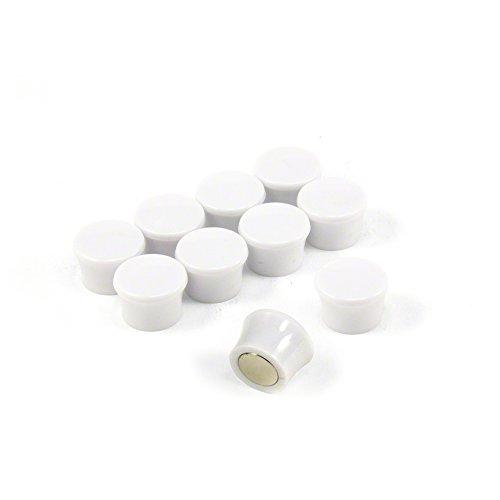 Magnet Expert® F4M18W-10 Petit Blanc Puissance « Memo » Conseil aimants-Bureau & frigo (17,5 mm dia x 12,3 mm de Hauteur) Paquets de 10, Argent