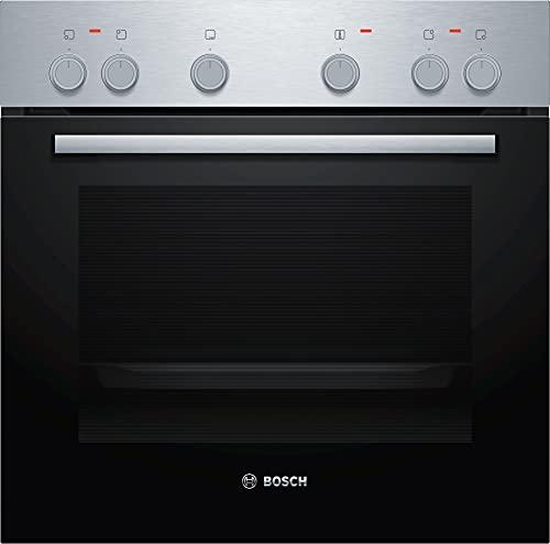 Bosch HND211AR61 - Placa de cocina (empotrada), A, 59,4 cm, acero inoxidable, puerta abatible, granito esmaltado, placa eléctrica (controlada por fuego), marco perimetral