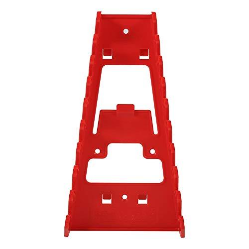 Schroefsleutel-frame, 8,7 x 4,7 x 1,4 inch, 9-voudig rood kunststof gereedschap voor wandmontage met hoge dichtheid en duurzaamheid, gemakkelijk op te bergen, bespaart ruimte voor muren, steekplank zijkant van een m