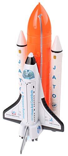 JohnToy 26027 Space Shuttle - Flauta Espacial con luz y Sonido, Multicolor
