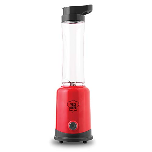 Dash DPBD002RD Personal Blender with BPA Free Tumbler + Carry Loop for Flavored Water, Protein Shakes, Smoothies, 20 oz, Red