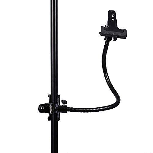 Skitior - Abrazaderas de soporte para iluminación, deflectores ligeros para estudio fotográfico, fotolamps lámparas, deflectores de iluminación, color negro