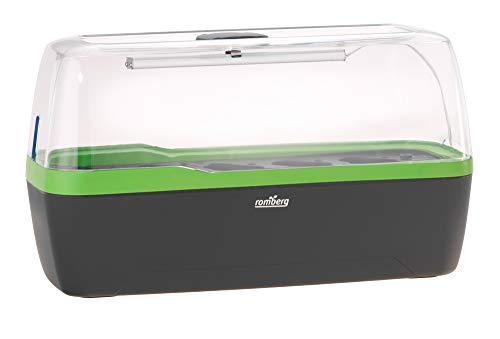 Romberg 16294397 BoQube Gewächshaus & Pflanzkasten L plus LED anthrazit-grün (Zimmergewächshäuser)