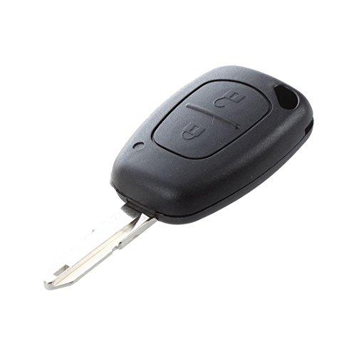 TOOGOO(R) Funda de 2 botones para llave de control remoto de trafico Renault MASTER KANGOO Opel Vivaro FOB box
