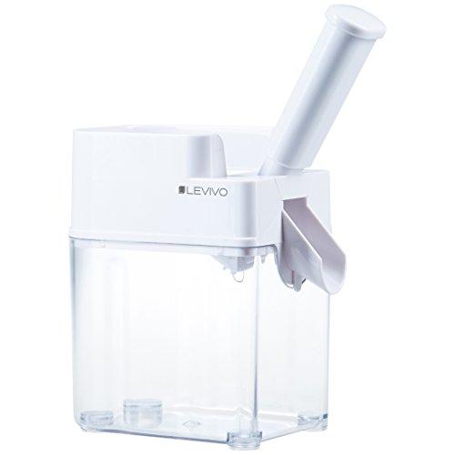 Levivo 331800000196 Dénoyauteur à goulotte, Plastique, Blanc, 14 x 11 x 33 cm