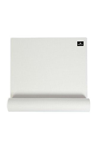 Yoga Studio - Tappetino da yoga unisex, 6 mm, bianco adesivo, 183 x 61 cm, 6 mm, a prova di strappo, con base antiscivolo, colore: Bianco