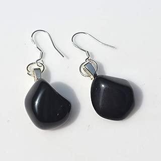 DejaVu Designs Custom Apache Tears Sterling Silver Earrings