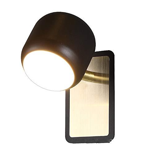 Wylolik Creative 350 Degree Rotatable Lantern LED Night Light Fixtures Nordic Modern Wood Wall Lamp Sconce Light for Living Room Bathroom Corridor, 6W