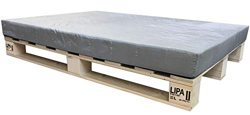 LIPA Palettenbett Bett Holz Massivholzbett 90 100 120 140 160 180 200 x 200cm, Palettenmöbel hergestellt in BRD (180 x 200cm)