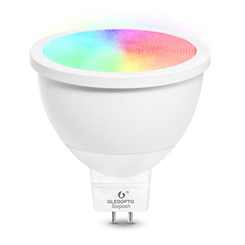 Intelligente Birne MR16 GU5.3 LED Bulb 4W ZigBee Wireless Smart Bulb RGB CCT Dimmable Colour Floodlight (Bean Angle 120°)