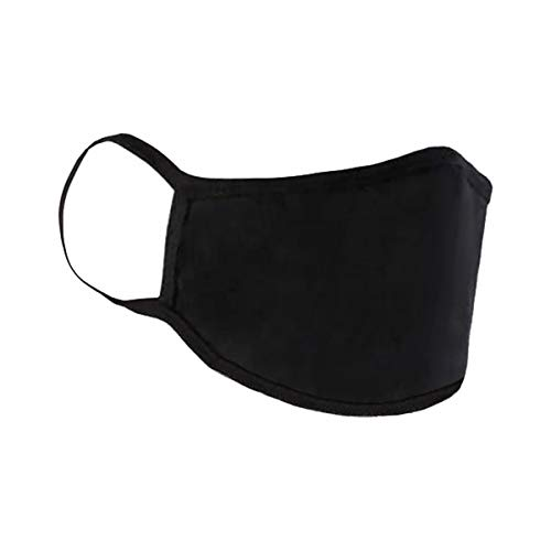 Mund-Nasen-Maske Mundbedeckung Gesichtsmaske Stoffmaske Behelfsmaske Baumwolle Waschbar (5er Pack, schwarz)