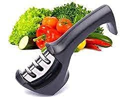 afilador cuchillo manual para tu casa Afilador de cuchillos trifásico acto para todo tipo de cocina incluso uso profesional. Base antideslizante con mango muy comodo.