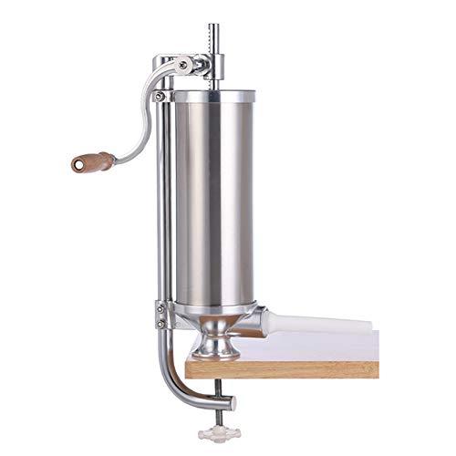 WSHA Embutidora Manual de Embutidos de 5 Libras, embutidora Vertical de Acero Inoxidable, preparación de Relleno de Carne de Cocina, para el hogar o Comercial