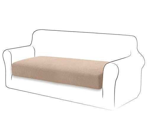 TIANSHU Fodera per Cuscino ad Alta Elasticità Cuscino per Divano Fodera per mobili Protezione per Divano Coprisedile per Divano Fodere per Cuscino a 2 Posto Pezzo per Sedia (2 Posto, Sabbia)