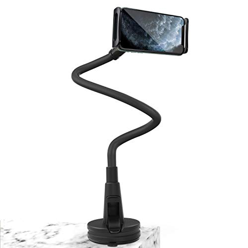mylovetime Handyhalterung, Handyhalter Universal Schwanenhals Halter 360° Drehen Flexible Lang Arm Handy Ständer für All Smartphones