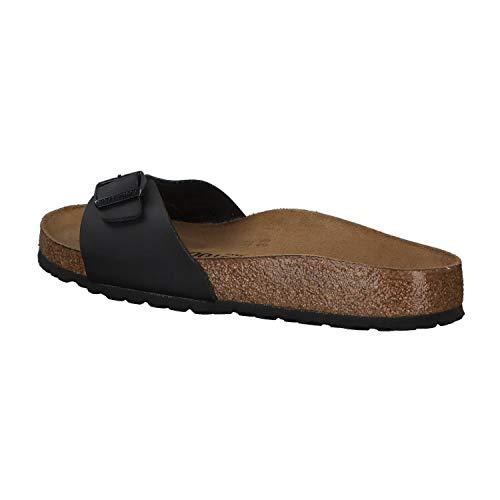 Birkenstock Schuhe Madrid Birko-Flor Schmal Black (040793) 38 Schwarz