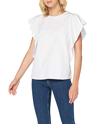 BOSS Ciguida Blusa, Blanco (White 100), 44 (Talla del Fabricante: 42) para Mujer