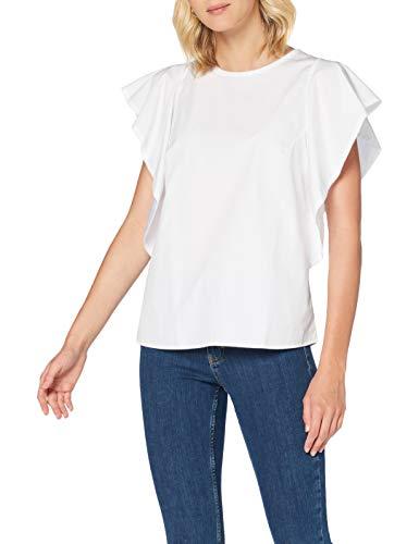BOSS Ciguida Blusa, Blanco (White 100), 40 (Talla del Fabricante: 38) para Mujer