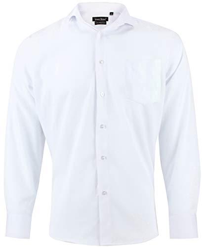Camisa Blanca para Hombre Regular fit Mangas largas Cuello Italiano Ta