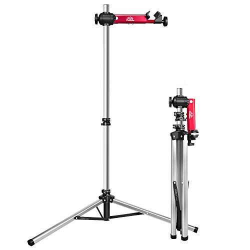 Yosky Bike Repair Stand Foldable Aluminum Alloy Bicycle Repair Rack Work Stands for Home Shop Maintenance Adjustable Height Portable