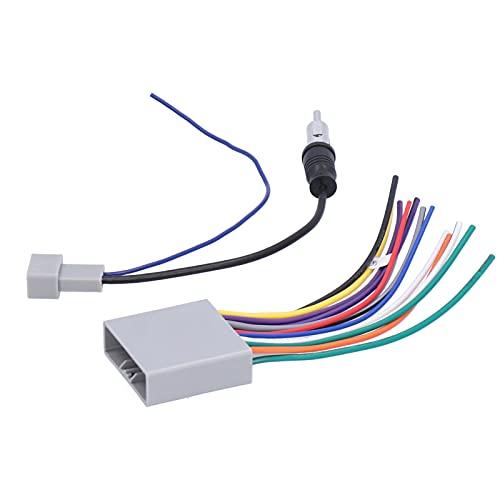 Arnés de cableado de audio estéreo para radio de coche + reemplazo de adaptador de antena para Honda Civic/CRV/Fit/Odyssey