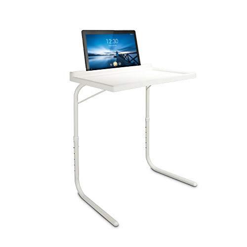 HANKING PLANET Mesa Plegable Auxiliar, Mesa portatil con sujeción para Tablet, Vaso y boligrafo. Mesa ⭐