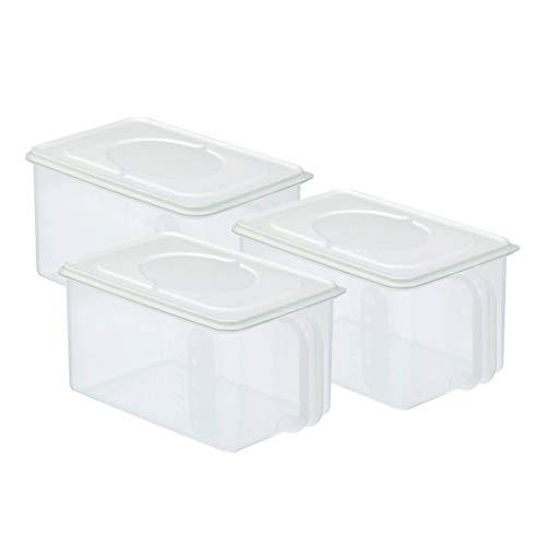 Fiambrera Frigorífico Organizador de almacenamiento de alimentos Recipiente con tapa Mango fresco de mantenimiento de la caja de la caja de...