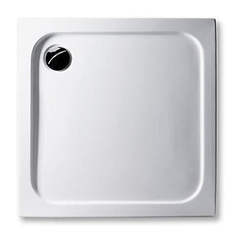 Acryl Duschwanne 80 x 75 cm superflach 2,5 cm, rechteckig weiß Dusche/Duschtasse/Brausewanne