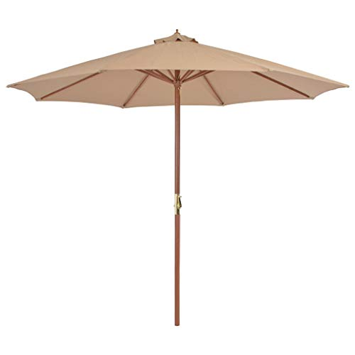 vidaXL Sonnenschirm 300 cm Taupe Ampelschirm Marktschirm Schirm Gartenschirm