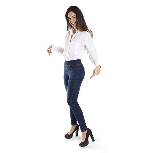 Trendcool Vaqueros Mujer Elasticos. Jeans Push Up. Pantalones Mujer Jeggins Desgastados. Leggins para Mujer Invierno. Jeggins Mujer Skinny High Waist. (L, W2)