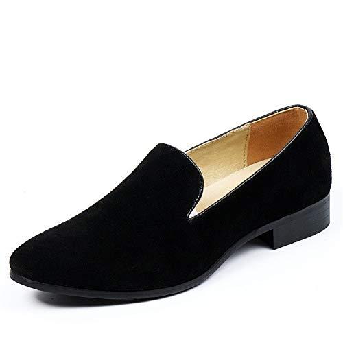 Heren Classic Honourable Oxfords roker loafers voor mannen business-jurk-schoenen-band op nubuckleer puntschoen lichte stiksels vegan rubberen zool elastische Penny schoenen Retro Temperament Oxfords