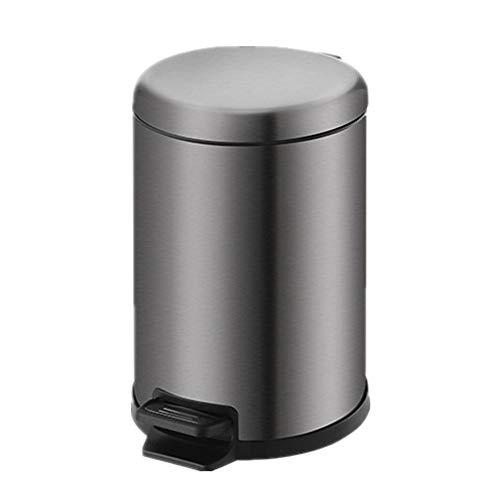 HoGau Maison Keukenmachine, rond, duurzaam, roestvrij staal, voor thuis of op kantoor, het kantoor kan de prullenbak van het type Mut/Zwart