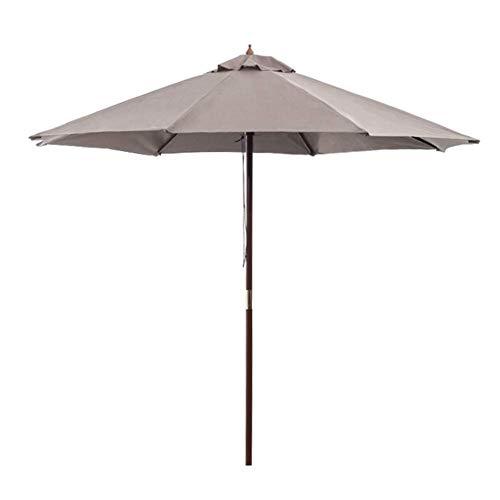 JFFFFWI Parasol de Jardin ombragé de 2,7 m, Grand auvent extérieur de Patio en Aluminium Sun Shade Easy Crank Open UV Protective for Beach/Pool/Patio/Outdoor Shelter Tent, White