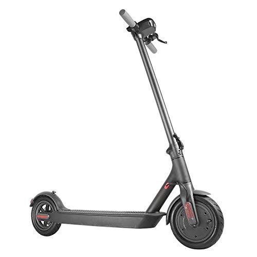 CWM Scooter eléctrico de 350 W, potente batería y motor para scooter de larga duración, plegable, ligero, Segway con pantalla digital para adultos y adolescentes, faro LED fuerte para noches negro