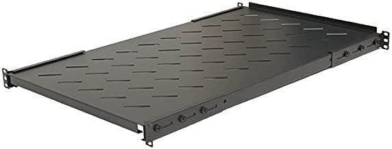 NavePoint Sliding Rack Vented Server Shelf 1U 19 Inch 4 Post Rack Mount 13.75 Inches 350mm Deep