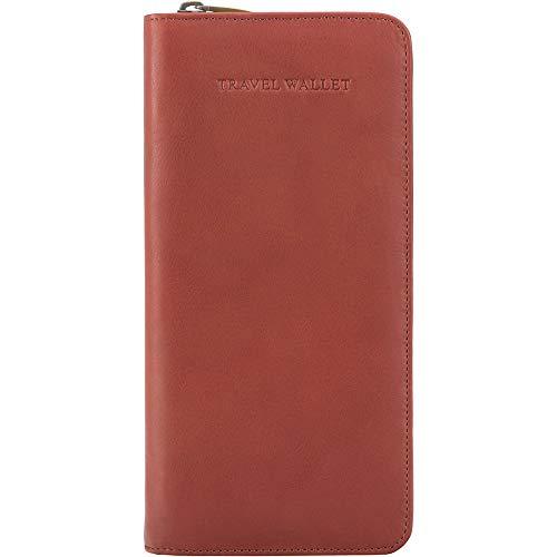 Visconti Leder Unisex Reise Flug Brieftasche Polo Purse Wallet(1157):, Braun (Brown), X-Large